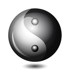 Vector Yin Yang shiny symbol