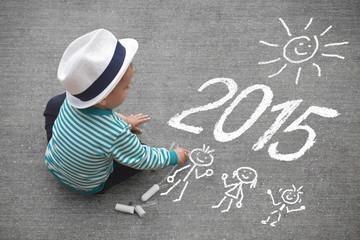 Kleiner Junge mit Kreide - 2015