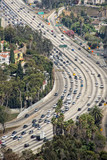los angeles congested highway poster