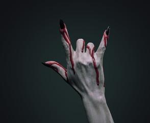 Bloody hand vampire