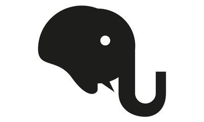 Elefant Kopf Profil