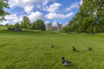 Historic Bodiam Castle in East Sussex