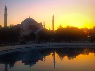 scenic sunrise in Istanbul