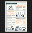 Retro Frame restaurant lunch menu design layout - 69319398