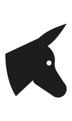 Esel Kopf Profil