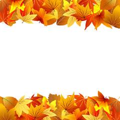 осенняя рамка из цветных листьев