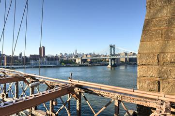 View of Manhattan from Brooklyn Bridge