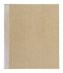 old book cover isolated on white background with clipping path