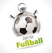 Stoppuhr - Zeit für Fußball