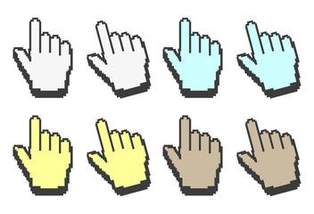 Gepixelte Hand Cursore