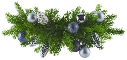Christmas silver decoration element