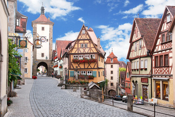 Das Plönlein in Rothenburg in düsterer Stimmung