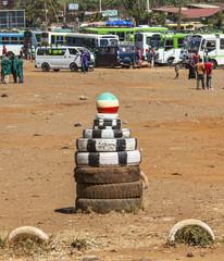 Bus Station in Sodo.  Sodo Wolaita. Ethiopia.