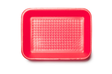Red Foam Tray