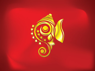 abstract artistic golden ganesha background