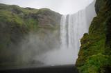 chute de Skogafoss Islande poster