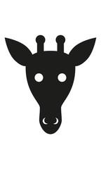 Giraffe Kopf Frontal
