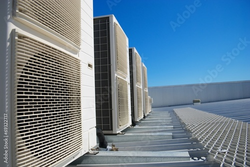 Leinwanddruck Bild Air conditioner units