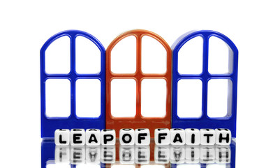 Leap of faith and three doors