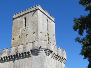 Charente-Maritime - Esnandes - Clocher de l'église fortifiée