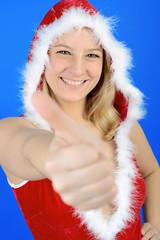 """Weihnachtmann """"Daumen hoch"""""""