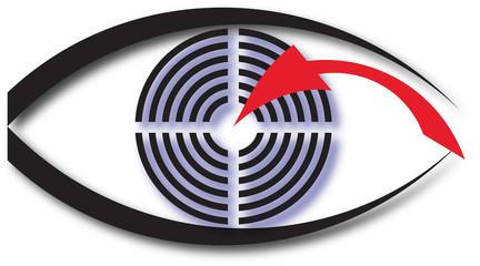 abstract logo of an eye