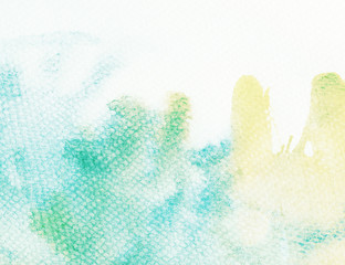 Abstract watercolor background with leaked paint