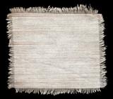 Flap burlap texture, piece of natural material poster