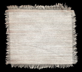 Flap burlap texture, piece of natural material