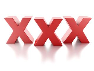 xxx icon on white background