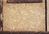 Recycled compressed wood chipboard poster