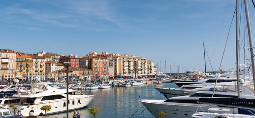 Luxury boats at Nice, France
