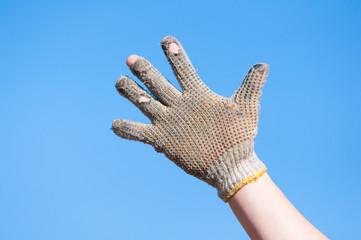 使い古された手袋