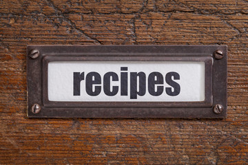 recipes  label
