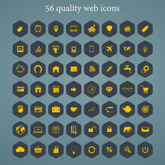 Set of web icons for business, finance and travel