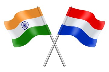 Flags: India and the Netherlands