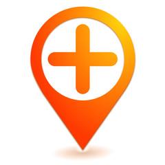 plus sur symbole localisation orange