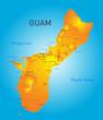 Постер, плакат: Guam map