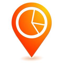 statistiques sur symbole localisation orange