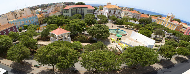 Panoramic view of the city center, Praia, Cape Verde