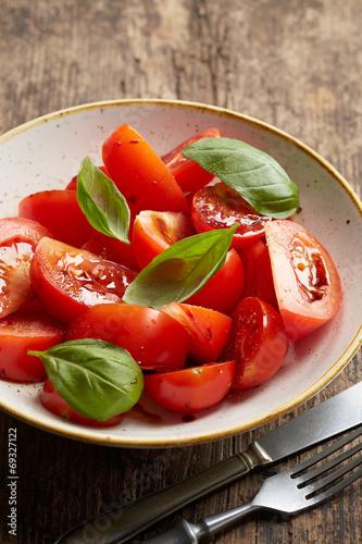 canvas print picture fresh tomato salad