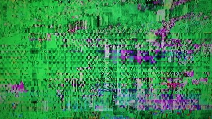 Television screen with static noise caused by bad signal