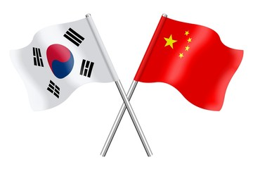 Flags : South Korea and China