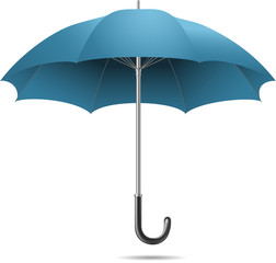 blue open umbrella