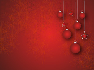 Christmas Background in red