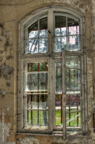 canvas print picture Fenster Altbau
