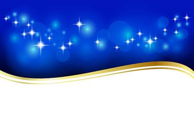 Hintergrund oder Banner mit Sternen, blau