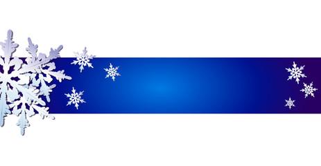 Hintergrund oder Banner mit Schneeflocken, blau