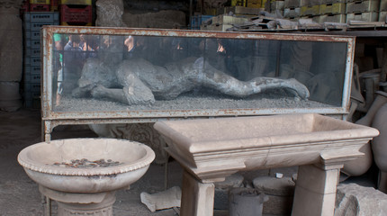 the victim of Vesuvius eruption