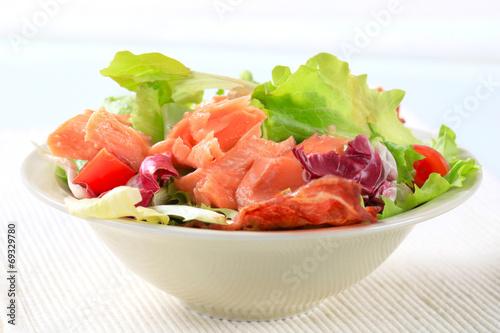 canvas print picture Salmon salad
